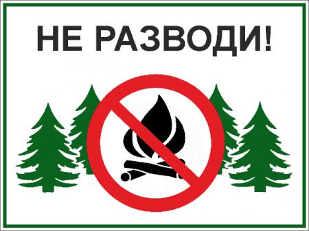 Табличка Костры не разводить - Изготовление табличек на заказ в типографии  Фантазия в СПб